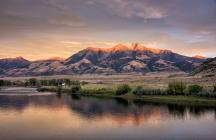 Paradise Valley, Montana: Last light on the Absaroka Mountains. Photo by Bill Young