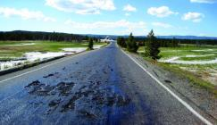 Road maintenance required near the Firehole River in Yellowstone National Park